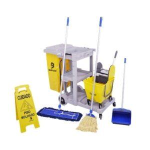Kit 3 de limpeza profissional amarelo – Bralimpia